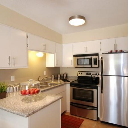 Kitchen at SunVilla Apartments In Mesa, AZ