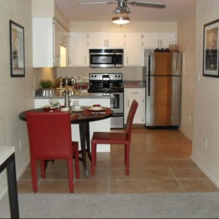 Dining area at SunVilla Apartments In Mesa, AZ