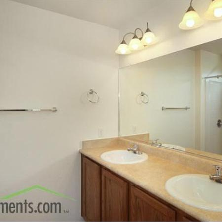 Bathroom vanity at Coronado Commons Townhomes in Sierra Vista, AZ
