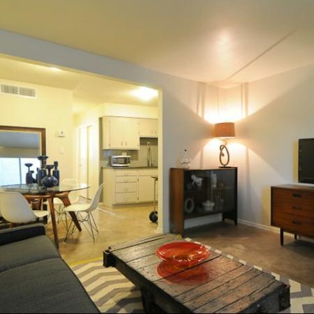 Carol Mary Apartments livign room and dining room in Phoenix, AZ