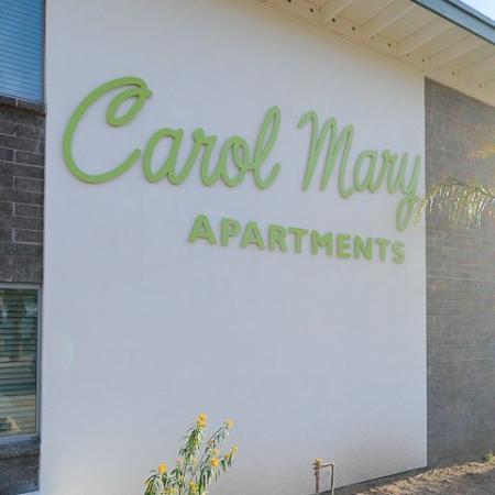 Carol Mary Apartments signage in Phoenix, AZ