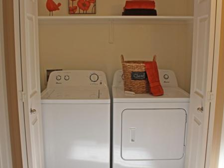 In unit washer and dryer at Country Brook Apartments in Chandler, AZ