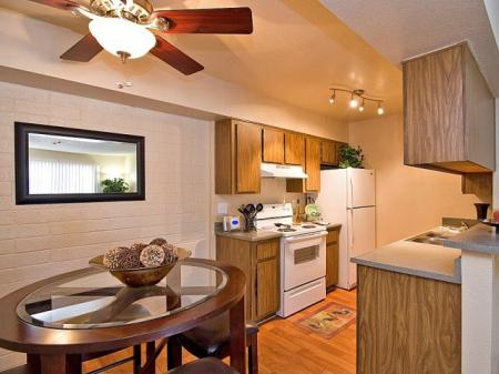 Kitchendining area at Papago Crossing Apartments in Phoenix, AZ