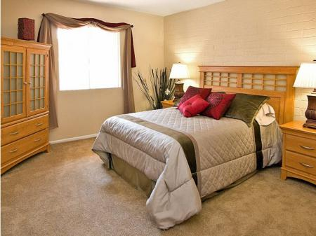 Bedroom at Papago Crossing Apartments in Phoenix, AZ