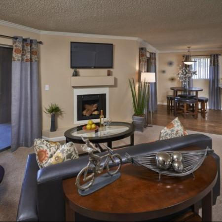 Country Brook Apartments living room in Chandler, AZ