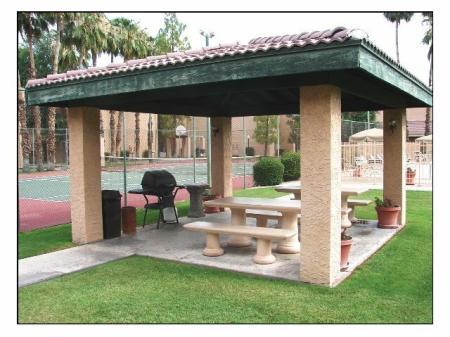BBQ patio at Shorebird Apartments in Mesa, AZ