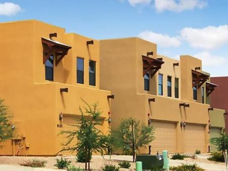 Exterior and landscaping at Coronado Commons Townhomes in Sierra Vista, AZ