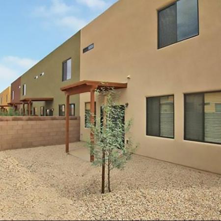 Townhome backyard at Coronado Commons Townhomes in Sierra Vista, AZ