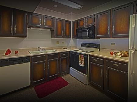 Kitchen at The Van Buren Luxury Apartments in Tucson, AZ