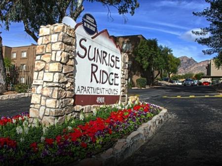 Signage at Sunrise Ridge Apartments in Tucson, AZ