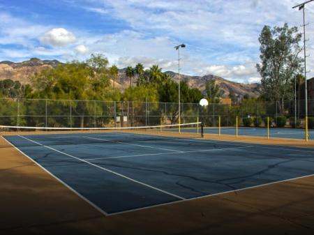 Tennis court at Sunrise Ridge Apartments in Tucson, AZ