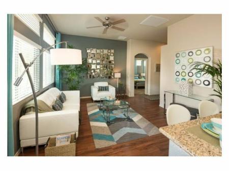Living room at Casitas at San Marcos 1 Apartments in Chandler, AZ