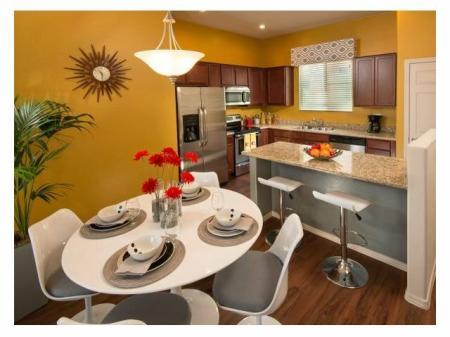 Dining area at Casitas at San Marcos 1 Apartments in Chandler, AZ