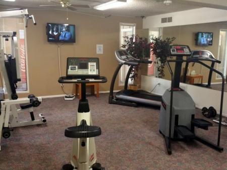 Fitness room at Pinecliff Village Apartments in Flagstaff, AZ