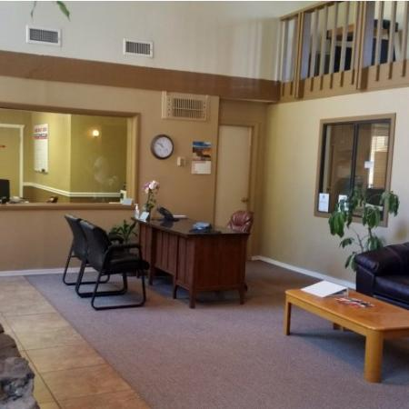 Leasing office at Pinecliff Village Apartments in Flagstaff, AZ