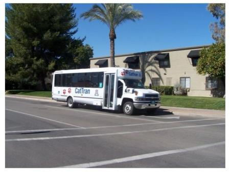 CatTran bus at Zona Verde Apartments in Tucson, AZ