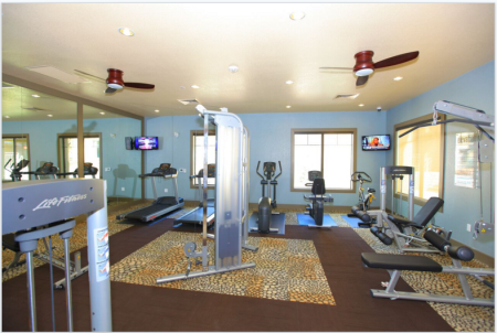Elevation Apartments fitness center in Flagstaff, AZ
