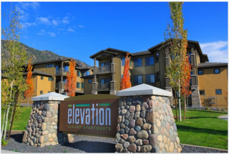 Entrance to Elevation Apartments in Flagstaff, AZ