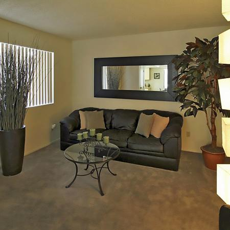 Bell Tower Apartments living room in Phoenix, AZ