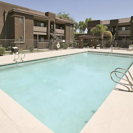 Bell Tower Apartments pool area in Phoenix, AZ