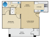 Springs at Continental Ranch 1 bedroom 1 bathroom apartments for rent floor plan Tucson, AZ