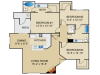 Springs at Continental Ranch 3 bedroom 2 bathroom apartments for rent floor plan Tucson, AZ