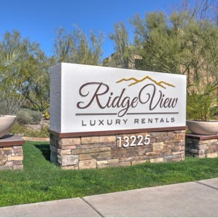 Signage at Ridge View Apartments in Fountain Hills, AZ