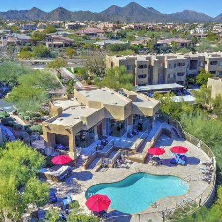 Arial view of Ridge View Apartments in Fountain Hills, AZ