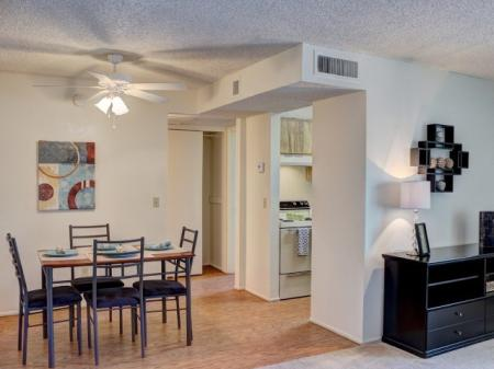 Dining room at Woodridge Apartments in Tucson, AZ