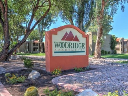 Signage at Woodridge Apartments in Tucson, AZ