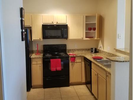 Rennovated kitchen at Westover Parc Apartments in Phoenix, AZ