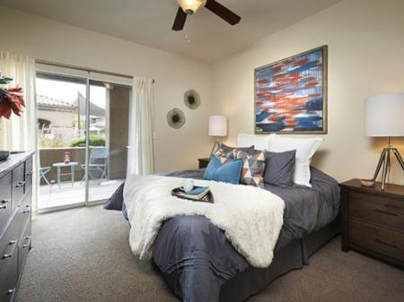 Bedroom at Silverbell Springs Luxury Apartments in Tucson, AZ