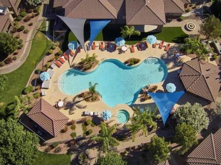 Pool at Silverbell Springs Luxury Apartments in Tucson, AZ