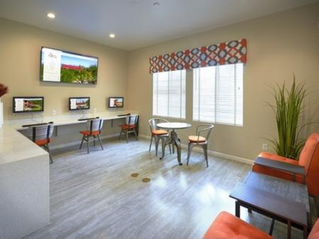 Business center at Silverbell Springs Luxury Apartments in Tucson, AZ