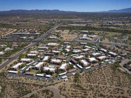 Arial view of Silverbell Springs Luxury Apartments in Tucson, AZ