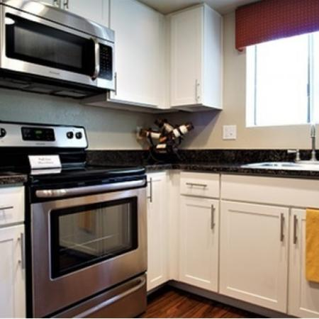 Renovated kitchen at Country Brook Apartments in Chandler, AZ