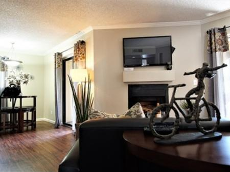 Living room at Country Brook Apartments in Chandler, AZ