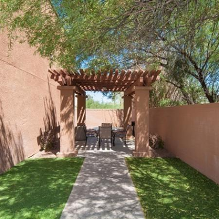 Patio at Acacia Gardens Apartments in Tucson, AZ