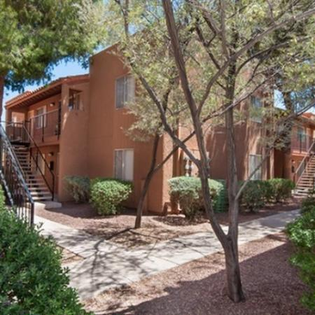 Landscaping and exterior at Acacia Gardens Apartments in Tucson, AZ