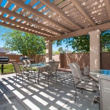 BBQ patio at The Fountains Apartments in Tucson, AZ