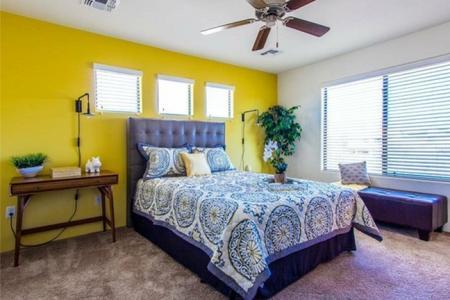Bedroom at Galeria Del Rio Townhomes in Tucson, AZ