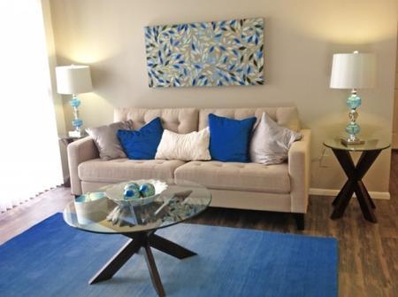 Living room at Saguaro Villas Apartments in Tucson, AZ