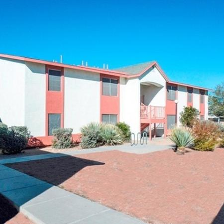 Exterior and landscaping at Mission Vista Apartments in Tucson, AZ