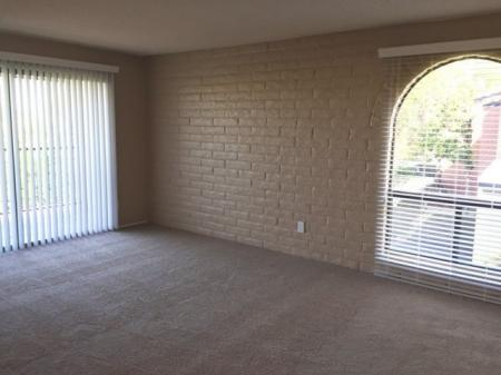 Living room at Mission Palms Apartments in Tucson, AZ