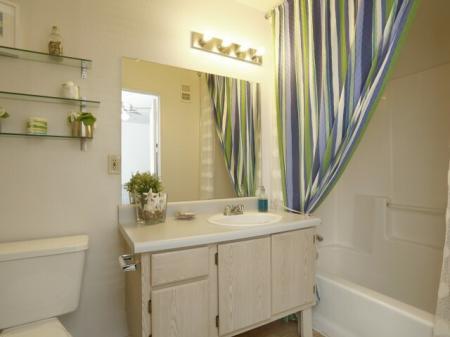 Bathroom at University West Apartments in Flagstaff, AZ