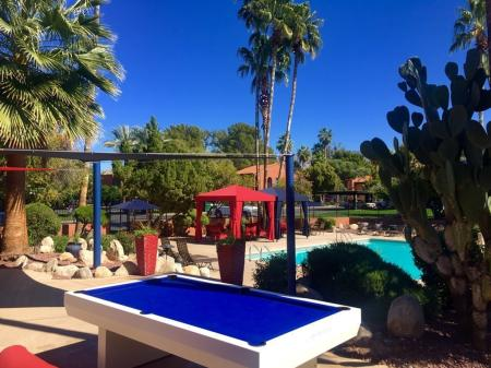 Pool and billiards table at Mission Palms Apartments in Tucson, AZ