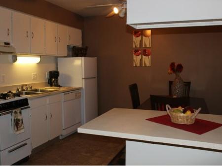 Kitchen at Canyon Vista Apartments in Albuquerque, NM