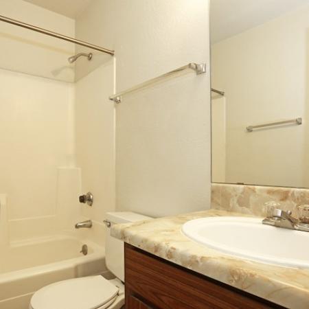 Bathroom at Aspen Leaf Apartments in Flagstaff, AZ