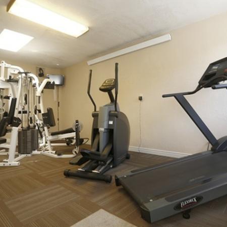 Fitness room at Aspen Leaf Apartments in Flagstaff, AZ