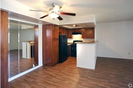 Kitchen and dining area at Avalon Hills Apartments in Phoenix, AZ